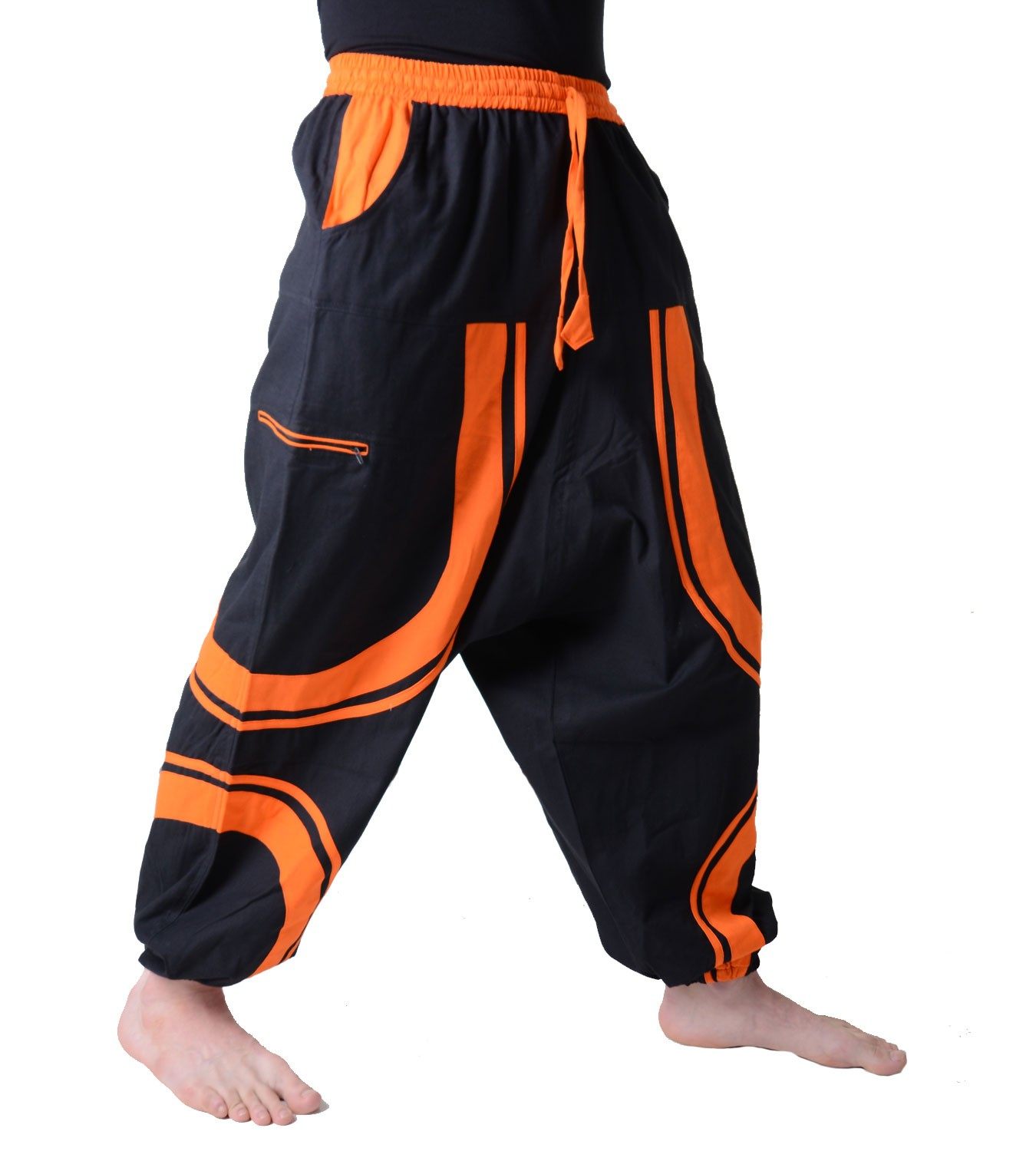 men 39 s sarouelhose in exceptional design patchwork harem pants ebay. Black Bedroom Furniture Sets. Home Design Ideas
