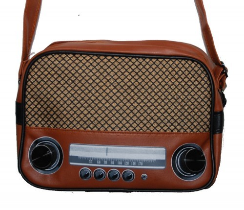 kult 70er retro radio bag tasche shopper schultertasche im retro style. Black Bedroom Furniture Sets. Home Design Ideas