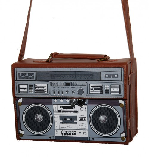 kult 70er retro radio bag tasche koffertasche schultertasche im retro style ebay. Black Bedroom Furniture Sets. Home Design Ideas