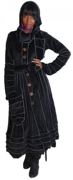 boho larp mantel kleid goa psy hippie mit extrem langer. Black Bedroom Furniture Sets. Home Design Ideas