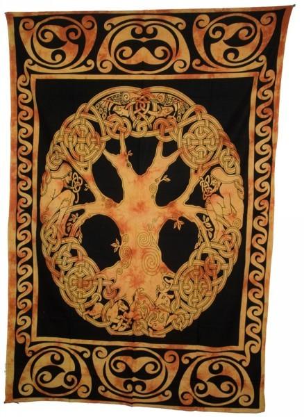 tagesdecke lebensbaum wandbehang yggdrasil celtic keltisch. Black Bedroom Furniture Sets. Home Design Ideas