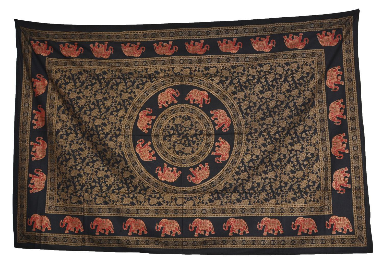wandbehang elefanten mandala tischdecke tuch indien. Black Bedroom Furniture Sets. Home Design Ideas