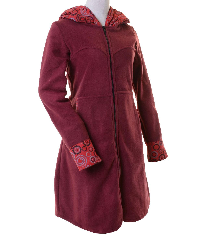 fleece mantel jacke mit kapuze goa psy hippie boho. Black Bedroom Furniture Sets. Home Design Ideas