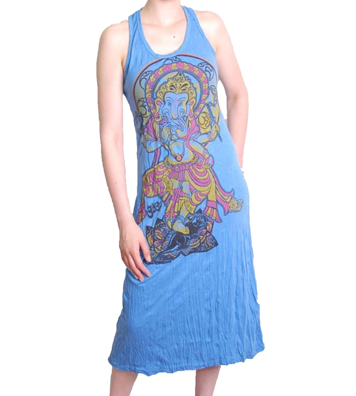 ganesha sommerkleid retro hippie 70er t shirt sure hippie blau. Black Bedroom Furniture Sets. Home Design Ideas
