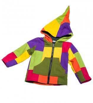 Funny Gnome Jacket with Hood in Blue and Rainbow Colors – Bild 4