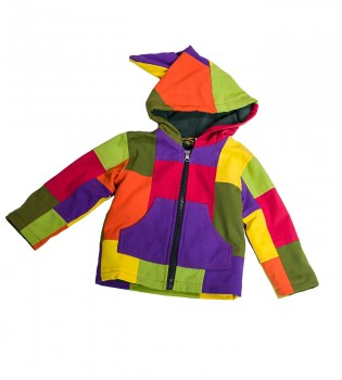 Funny Gnome Jacket with Hood in Blue and Rainbow Colors – Bild 2