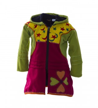 Funny Gnome Jacket with Hood in Blue and Rainbow Colors – Bild 1