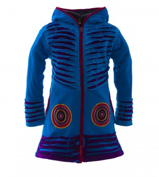 Funny Gnome Jacket with Hood in Blue and Rainbow Colors – Bild 8