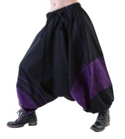 Psy Goa Pants in Black/Purple Aladdin Pants Harem Pants